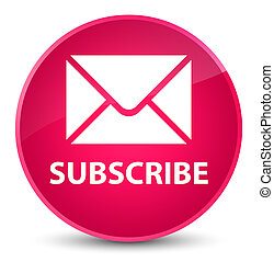 Subscribe (email icon) elegant pink round button