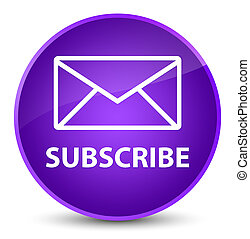Subscribe (email icon) elegant purple round button
