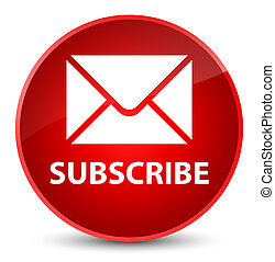 Subscribe (email icon) elegant red round button