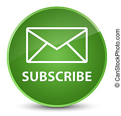Subscribe (email icon) elegant soft green round button