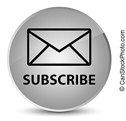 Subscribe (email icon) elegant white round button