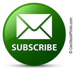 Subscribe (email icon) green round button