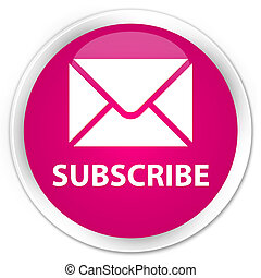Subscribe (email icon) premium pink round button