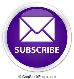 Subscribe (email icon) premium purple round button