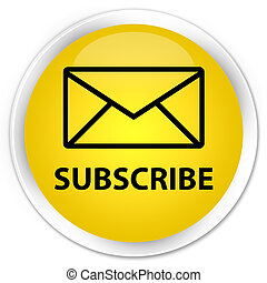 Subscribe (email icon) premium yellow round button