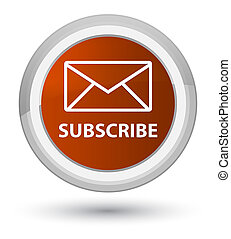 Subscribe (email icon) prime brown round button