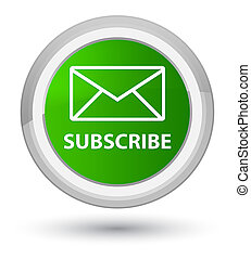 Subscribe (email icon) prime green round button