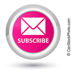 Subscribe (email icon) prime pink round button