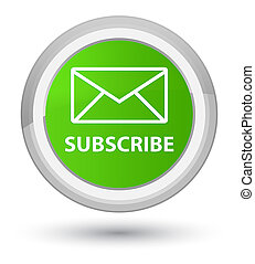 Subscribe (email icon) prime soft green round button