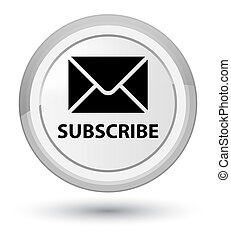 Subscribe (email icon) prime white round button