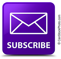 Subscribe (email icon) purple square button