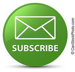 Subscribe (email icon) soft green round button