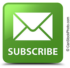 Subscribe (email icon) soft green square button