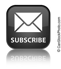 Subscribe (email icon) special black square button