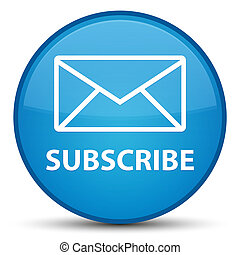 Subscribe (email icon) special cyan blue round button