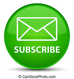 Subscribe (email icon) special green round button