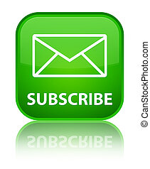 Subscribe (email icon) special green square button