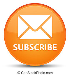 Subscribe (email icon) special orange round button