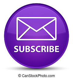 Subscribe (email icon) special purple round button