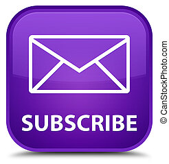 Subscribe (email icon) special purple square button