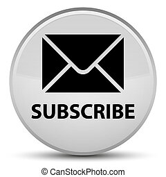 Subscribe (email icon) special white round button