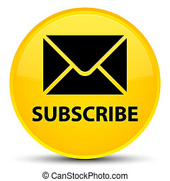 Subscribe (email icon) special yellow round button
