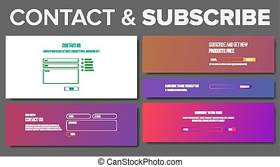 Subscribe Form Vector. Service System. Modern Template. Illustration