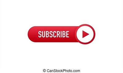 subscribe., gabarit, notification, laptop., concept, bouton, button., illustration., souscrire, nouvelles, business, cloche