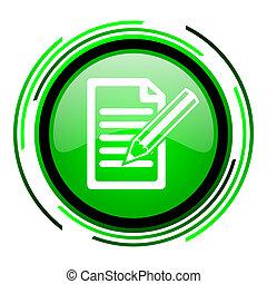 subscribe green circle glossy icon