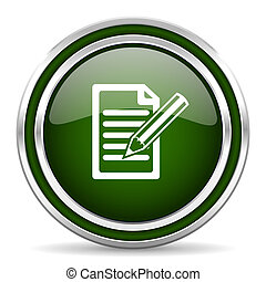 subscribe green glossy web icon