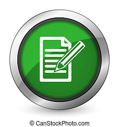 subscribe green icon write sign