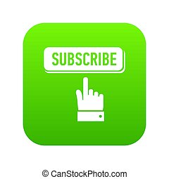 Subscribe icon green
