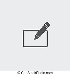 Subscribe icon in a flat design in black color. Vector illustration eps10