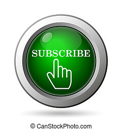 Subscribe icon. Internet button on white background