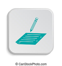 Subscribe icon. Internet button on white background.