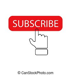 Subscribe icon on a white background. Vector illustration.