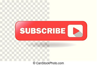 Subscribe Media Button Vector