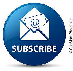 Subscribe (newsletter email icon) blue round button