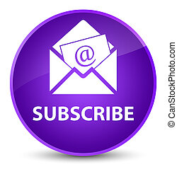Subscribe (newsletter email icon) elegant purple round button