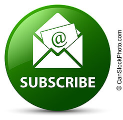 Subscribe (newsletter email icon) green round button