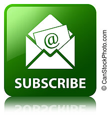 Subscribe (newsletter email icon) green square button