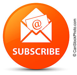 Subscribe (newsletter email icon) orange round button