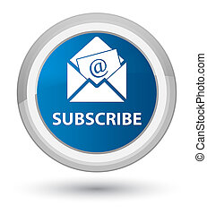 Subscribe (newsletter email icon) prime blue round button