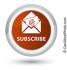 Subscribe (newsletter email icon) prime brown round button