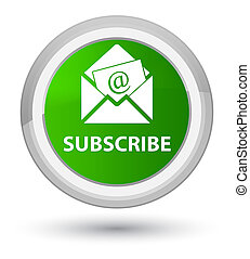Subscribe (newsletter email icon) prime green round button