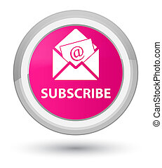 Subscribe (newsletter email icon) prime pink round button
