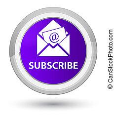Subscribe (newsletter email icon) prime purple round button