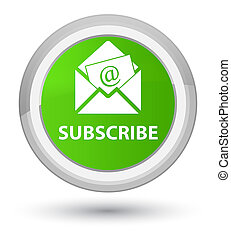Subscribe (newsletter email icon) prime soft green round button
