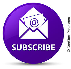 Subscribe (newsletter email icon) purple round button