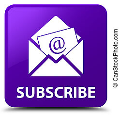 Subscribe (newsletter email icon) purple square button